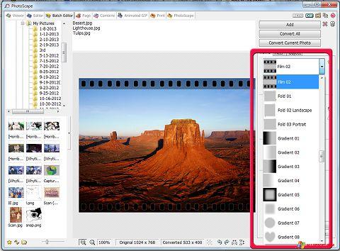 स्क्रीनशॉट PhotoScape Windows XP