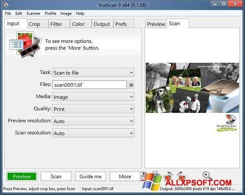 स्क्रीनशॉट VueScan Windows XP