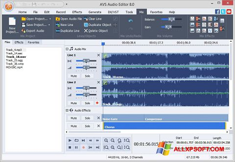 स्क्रीनशॉट AVS Audio Editor Windows XP