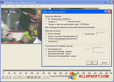 स्क्रीनशॉट VirtualDubMod Windows XP