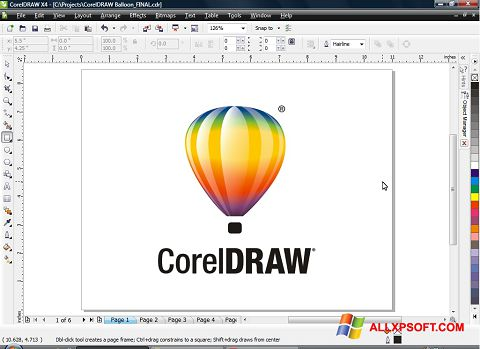 स्क्रीनशॉट CorelDRAW Windows XP