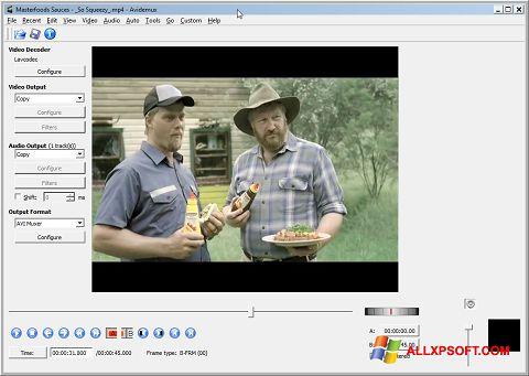 स्क्रीनशॉट Avidemux Windows XP