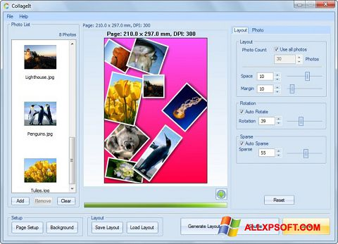 स्क्रीनशॉट CollageIt Windows XP