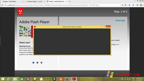स्क्रीनशॉट Adobe Flash Player Windows XP