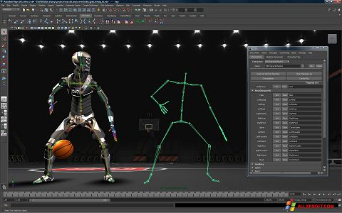 स्क्रीनशॉट Autodesk Maya Windows XP
