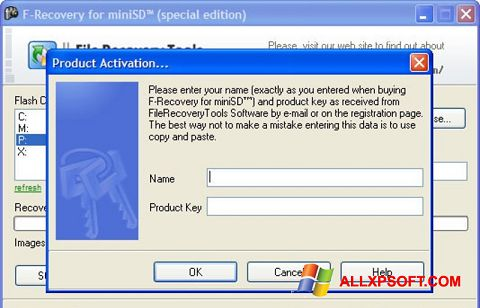 स्क्रीनशॉट F-Recovery SD Windows XP