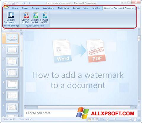 स्क्रीनशॉट Microsoft PowerPoint Windows XP
