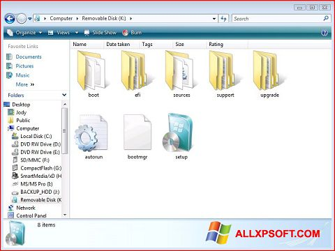 स्क्रीनशॉट Windows 7 USB DVD Download Tool Windows XP