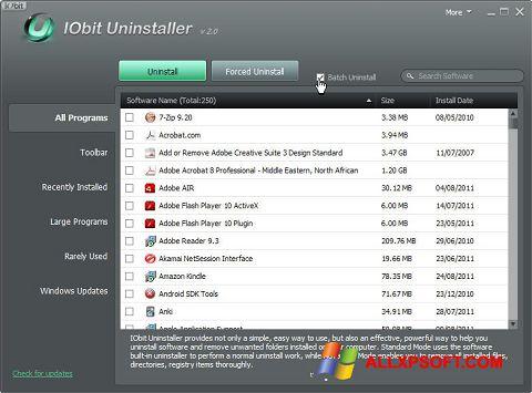 स्क्रीनशॉट IObit Uninstaller Windows XP