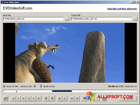 स्क्रीनशॉट Free Video Dub Windows XP