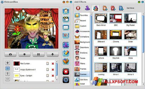 स्क्रीनशॉट WebcamMax Windows XP