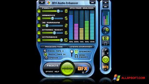 स्क्रीनशॉट DFX Audio Enhancer Windows XP