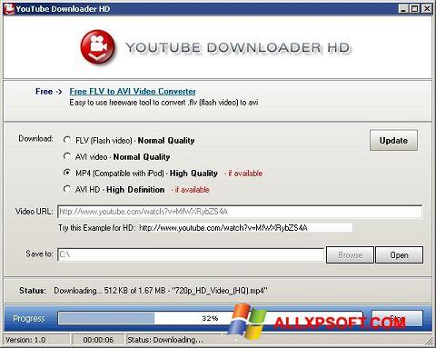 स्क्रीनशॉट Youtube Downloader HD Windows XP